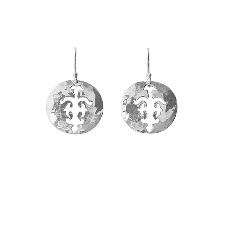 disc earrings silver