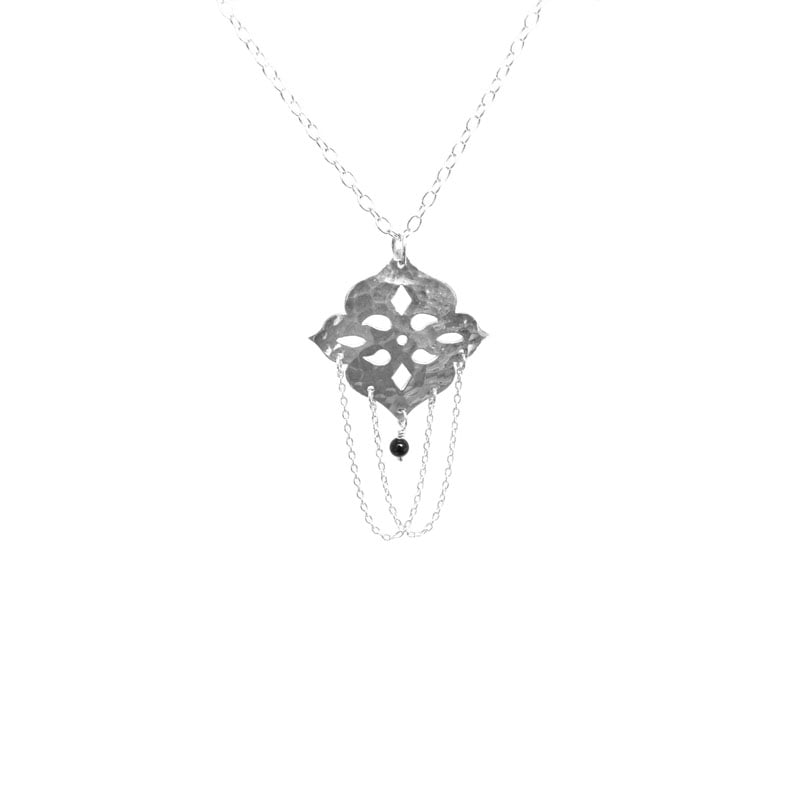 pendant onyx stone chain necklace