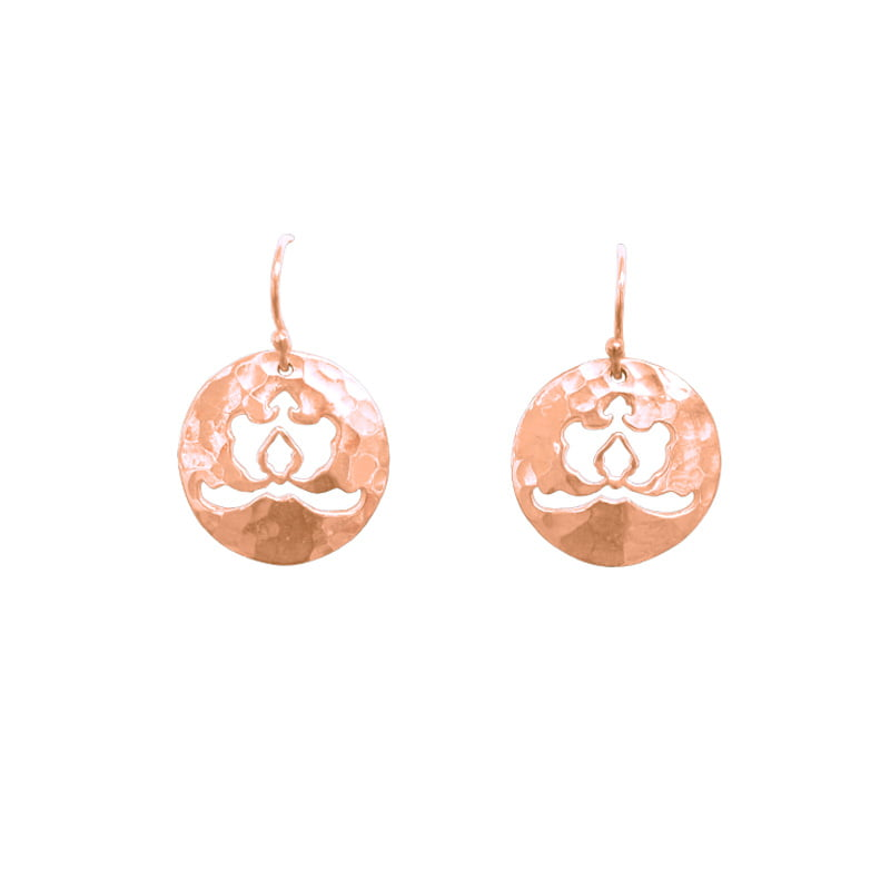 cut out disc earrings