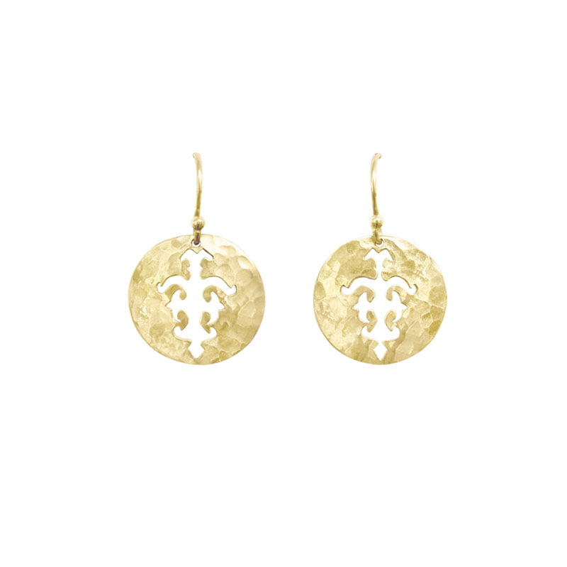 disc earrings yellow gold