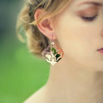 moroccan earrings rose gold