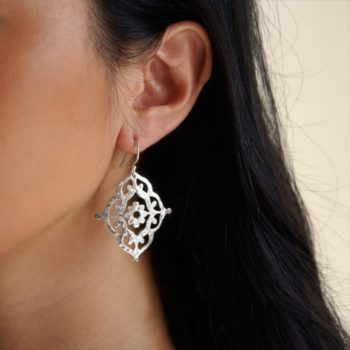 Silver Boho Earrings Australian designer