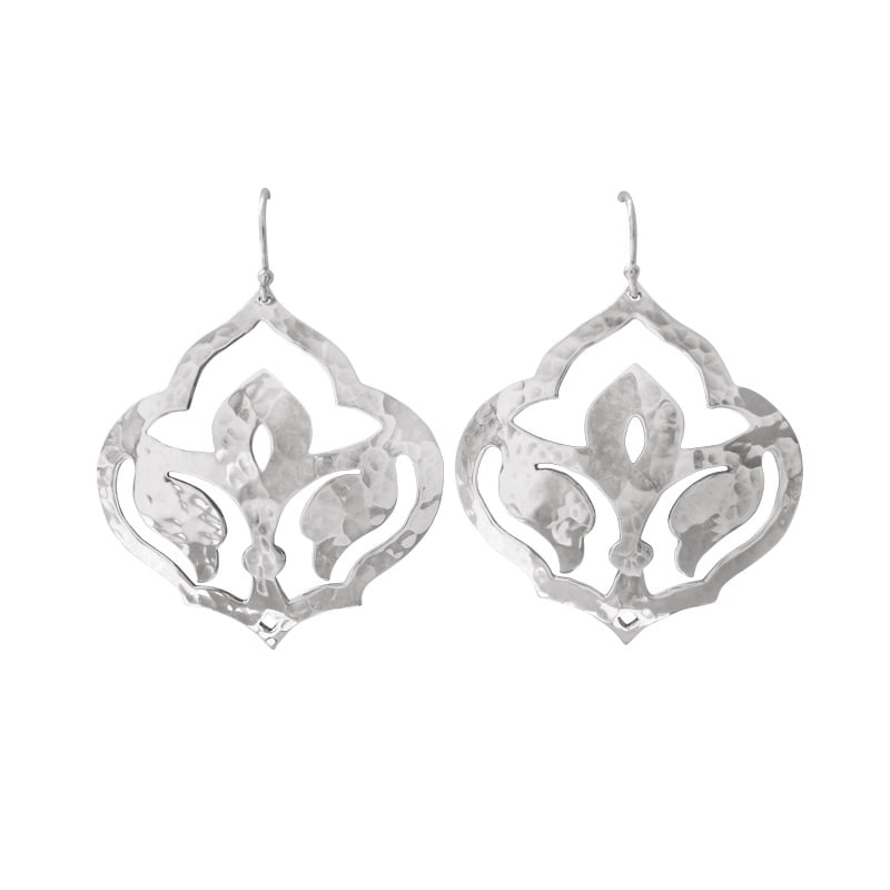 moroccan earrings silver