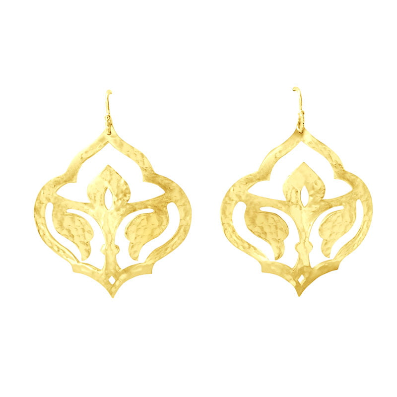 moroccan earrings yellow gold