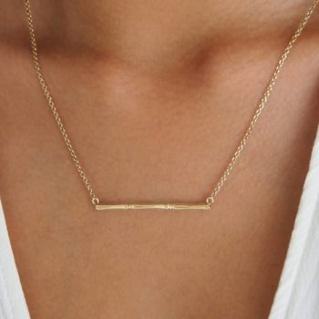 Gold bamboo necklace