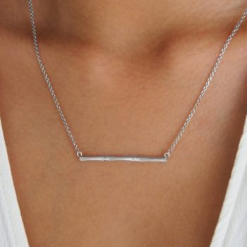 Bamboo Necklace silver