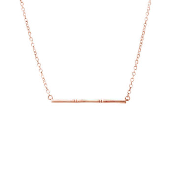 Bamboo Necklace Rose Gold
