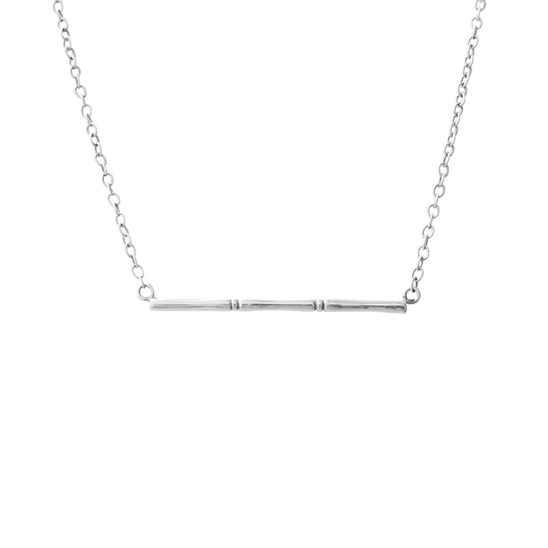 silver bamboo necklace