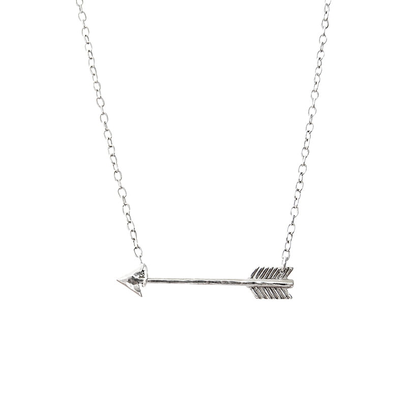 arrow necklace silver