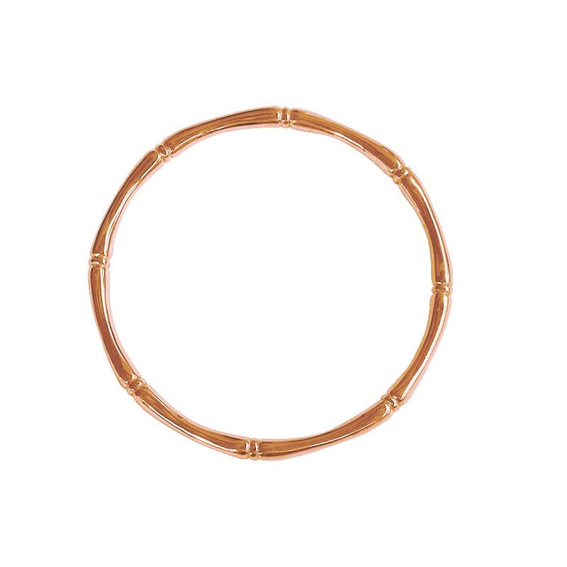 rose gold bamboo bangle