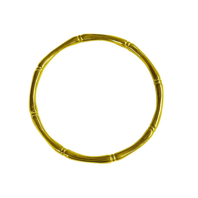 yellow gold bamboo bangle