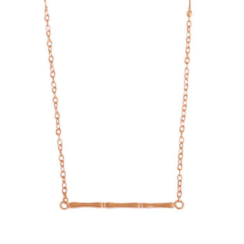 rose gold bamboo necklace