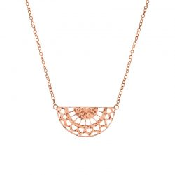 half circle necklace rose gold