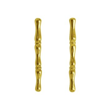 bamboo earrings yellow gold