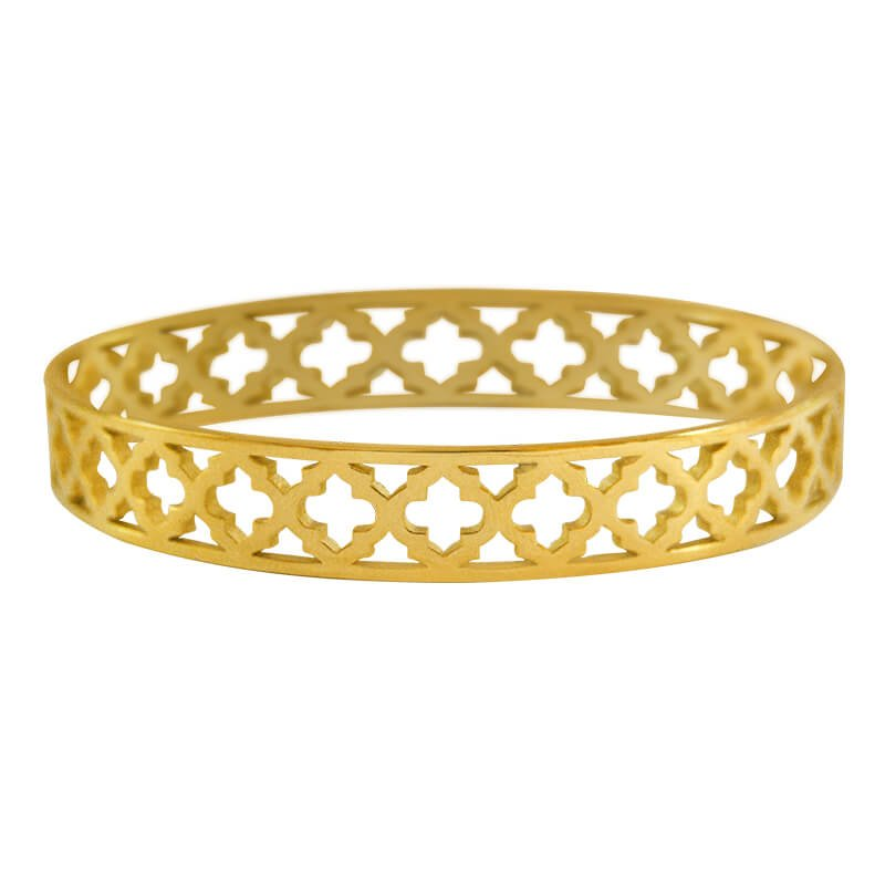 yellow gold moroccan bangle