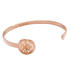 open cuff bangle rose gold