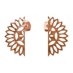 rose gold lace edge earrings