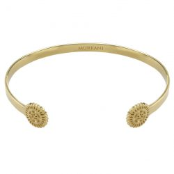 open cuff bangle yellow gold