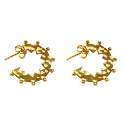 gold zigzag hoop earrings