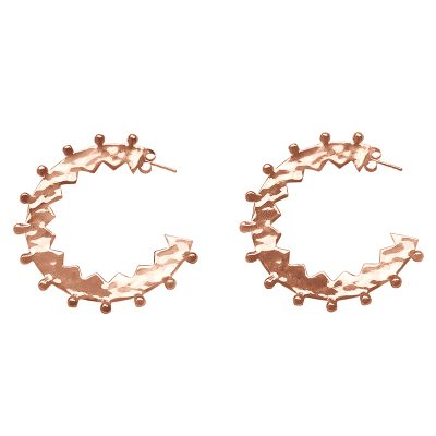 rose zigzag hoop earrings