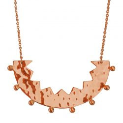 rose zigzag edge necklace