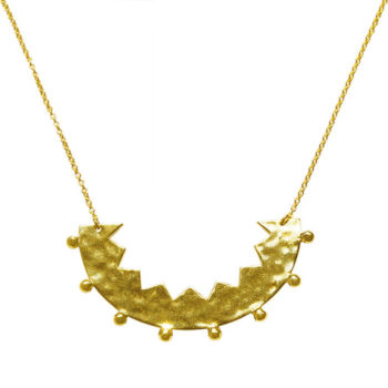 gold zigzac edge necklace