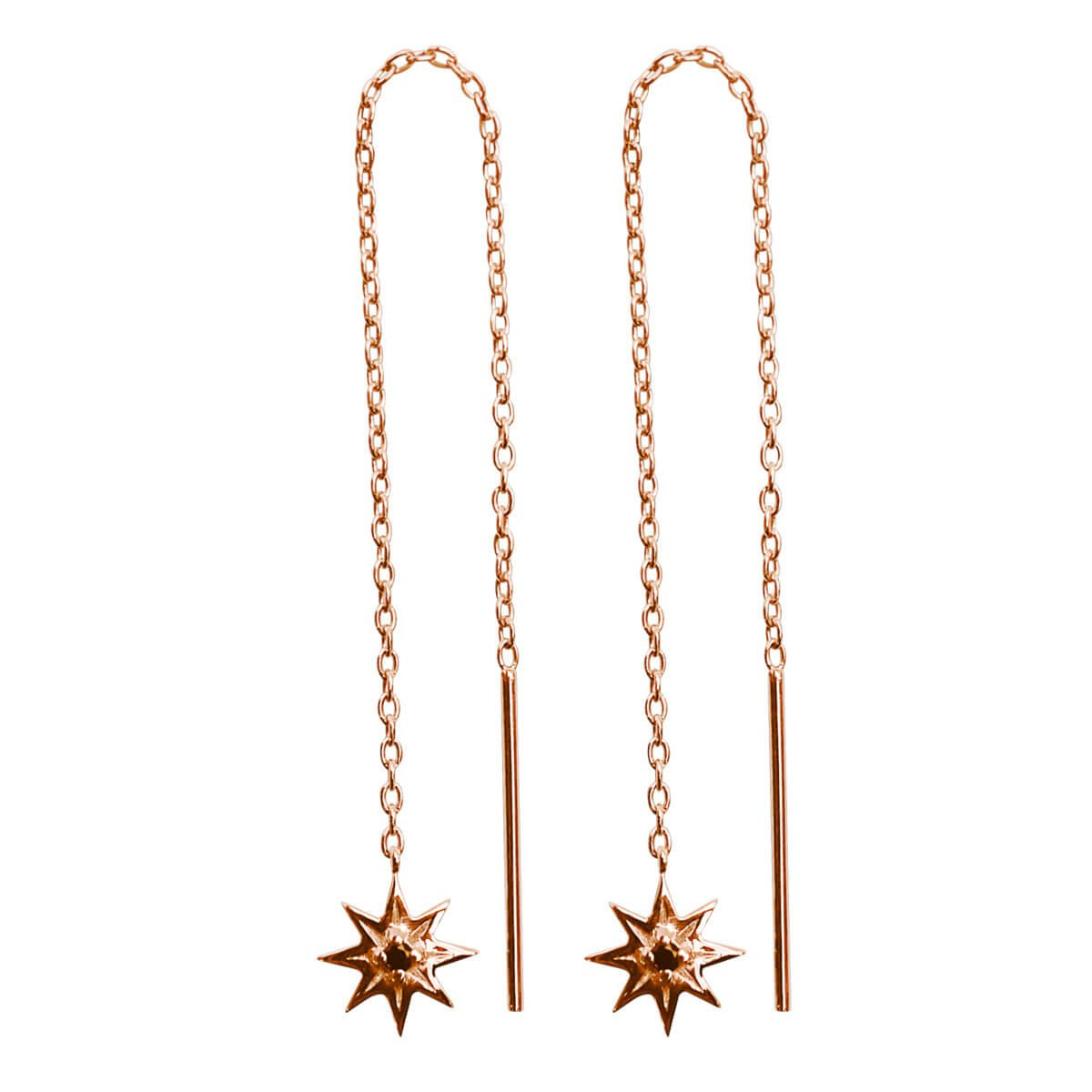 rose star chain earrings