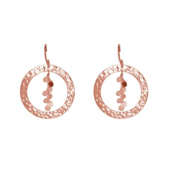 Grace Hoop Earrings in Rose Gold