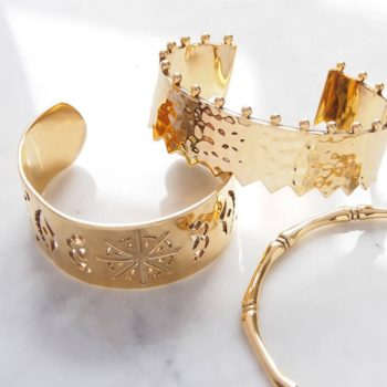 Beleza Cuff Bangle 18KT Yellow Gold Plate