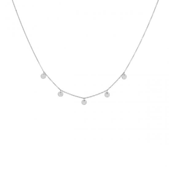 silver disc necklace
