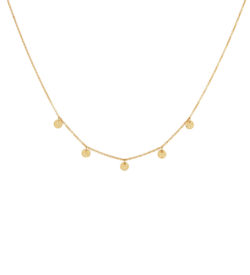 yellow gold disc necklace
