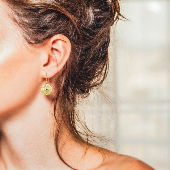 Grace drop earrings gold