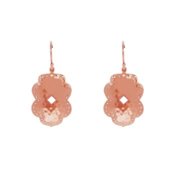 rose gold hanging earrings