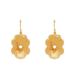 yellow gold hanging earrings