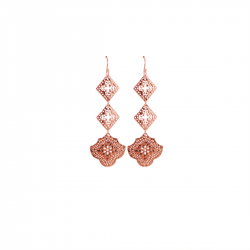 rose gold long earrings