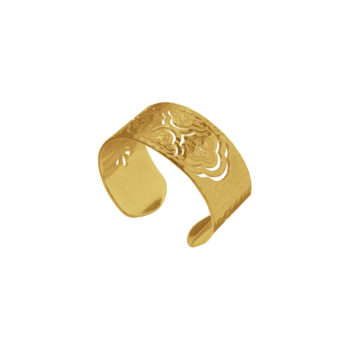 Heavenly bangle cuff bracelet yellow gold india inspired