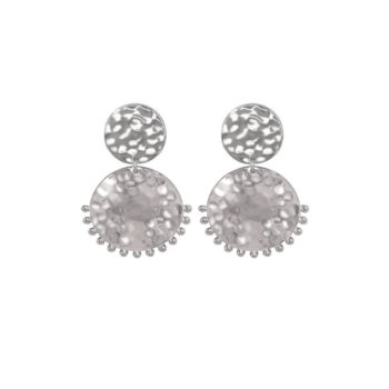 Tribal Stud Earrings Sterling Silver