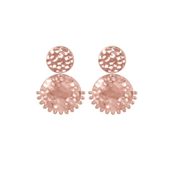 Tribal Stud Earrings Rose Gold