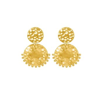 Tribal Stud Earrings 18KT Yellow Gold