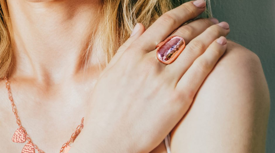 rose gold oval ring