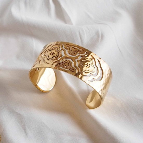 heavenly cuff bangle bracelet gold