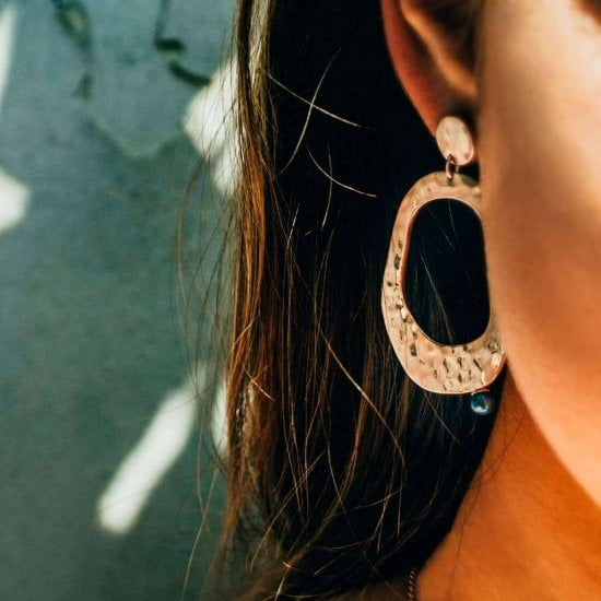 Riviera Large Earrings in Rose Gold