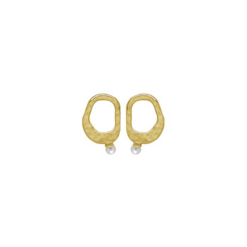 Riviera Small White Pearl Earrings