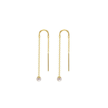 Riviera Pearl Thread Earrings i