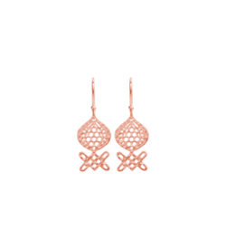 handcrafted earrings in Rose Gold Plate