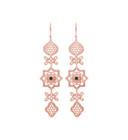 handcrafted earrings in Rose Gold