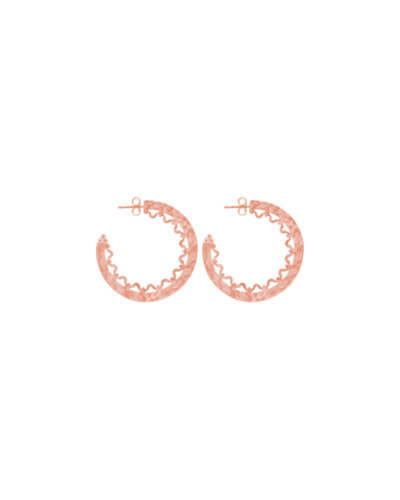 Sri lankan inspired earrings in Rose Gold
