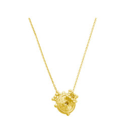 handcrafted necklace in 18 KT Yellow Gold Plate