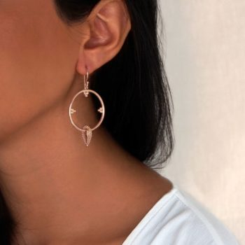 Rose Gold Boho earrings
