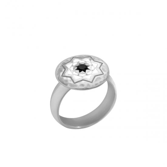 Sterling Silver ring black spinel